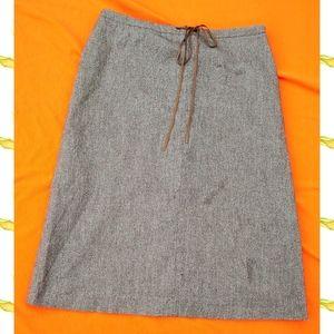 Banana Republic Wool Paper Bag A-line Skirt 10